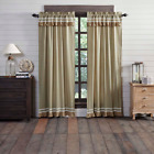 Vhc Collections: Casey Taupe Farmhouse Stripe Selections - Curtains, Rugs, Quilt