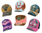 Women's Caps Hats Heartland Country Faux Leather Applique Rhinestones & Studs