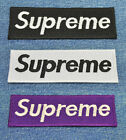 SUPREME iron on patch Embroided Sew DIY (#286)