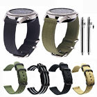 20 22mm Quick Release 3 RING PVD HEAVY Ballistic Nylon Military Watch Strap Band