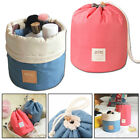 Barrel Travel Cosmetic Drawstring Wash Makeup Organizer Storage Toiletry Bag