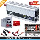 1500W Car DC 12V to AC 220V Power Inverter Charger Converter for Electronic RY