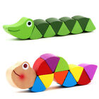 Wooden toy with colorful caterpillar Kid children Toy Gift