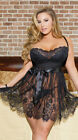 UK Womens Sexy Sissy Nighwear Underwear Ladies Babydoll Dress Lingerie Plus Size