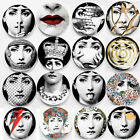 "Fornasetti Crafts Ceramic Home Decoration 8"" Wall Hanging Plates Art Nouveau Dec"