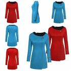 Women Star Trek Uniform Original Serie Cosplay Costume Red&Blue Adult Dress UK on eBay