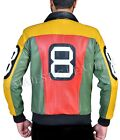 8 Ball Pool Seinfeld Michael Hoban MI Bomber Genuine Leather Jacket All Sizes $59.99 USD on eBay