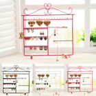 Earrings Necklace Jewelry Display Rack Metal Stand Organizer Holder CI