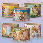 6 Easter Bread Parchment Baking Paper Molds Forms Paska Kulich Panettone Cakes
