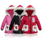 Baby Kids Brushed Cotton-padded Coat Winter Thickened Warm Hooded Outerwears X1