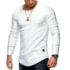 Fashion Men's Slim Fit O-Neck Long Sleeve Muscle Tee T-shirt Casual Tops Blouse