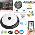 WIFI 1080P Full HD Wireless 360° Fisheye IR Night Vision 5MP Security Camera