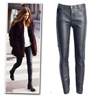 New black faux leather  moto skinny trousers strechy pants jeans