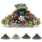 woman metal hair claw jaw rhinestones crystal