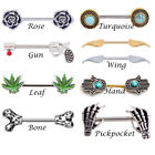 14G Hot 316L Surgical Steel Nipple Rings Bar Barbell Body Piercing Jewelry PAIR image