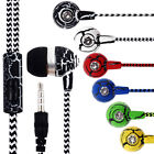 Hot Sale 3.5MM Cloth Rope Heavy Bass Music Earphones for MAC/PC/DVD/MP3