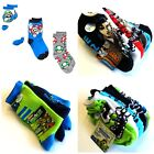 Boy's Socks 3-Pairs to 6-Pairs Monsters Inc Super Mario TMNT Star Wars NWT