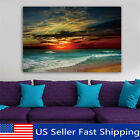 Art - Framed Sunset Beach Sea Modern Canvas Art Painting Print Wall Picture Home Decor