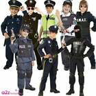 CHILDRENS POLICE OFFICER SWAT FBI COP OCCUPATION KIDS FANCY DRESS COSTUME OUTFIT