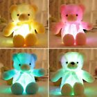 US 30CM Baby Cute Plush Stuffed LED Light Teddy Bear Soft Doll Kids Toys Gift
