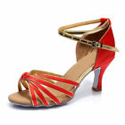 New Womens Ballroom Latin Tango Salsa Tango Dance Shoes Heeled Dancing 10 Color