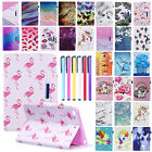 Pattern Leather Card Holder Stand Wallet Case Cover For iPad Mini/ Air/ 9.7 2018