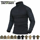 TACVASEN Tactical Military Combat Shirts Pullover Moisture Wicking Army T-ShirtsTactical Clothing - 177896