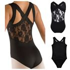 Black Leotard.Lace Back Ballet Dance Costume.5-12 Years.Fast UK.Gymnastic Tap