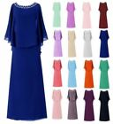 Plus Size Long Chiffon Formal Evening Party Gown Mother of The Bride Dress
