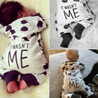Newborn Infant Baby Boy Girl Long Sleeve Romper Jumpsuit Bodysuit Outfits Set RT