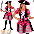 Pirate Girls Fancy Dress Caribbean Buccaneer Book Day Week Kids Childs Costume