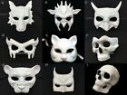 Blank Unpaint White DIY Masquerade Halloween Party Character Animal Mask