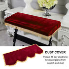 Pleuche Anti-dust Keyboard Cover for 61/88 Key Electronic Piano Burgundy/Violet