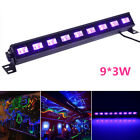 9 LED UV-BAR 9x 3W LED Black Light UV Bar Blacklight Effect DJ Disco Decor EU LJ