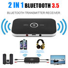 2 In 1 Wireless Stereo Audio Bluetooth Transmitter Receiver Adapter Black NEW ZX