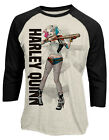 Harley Quinn 'Poster Girl' 3/4 Length Sleeve Raglan Baseball Shirt - OFFICIAL