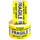 FRAGILE Please Handle With Care Do Not Drop Label Stickers 2' x 3' High Quality