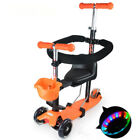3 in1 Children's Multifunctional Scooter Baby Trolley Scooter Four-wheeled Flash