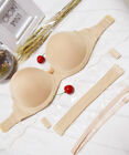 NEW Invisible Strapless Multiway Clear Back Strap Padded Push Up Bra A B C D Cup