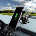 Qi Wireless Charger Car Charging Phone Mount Holder For iPhone 11 Pro Max 8Plus
