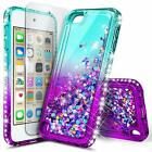 iPod Touch 5th 6th 7th Gen Case [Liquid Glitter] Bling Cover   Screen Protector