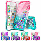 For iPod Touch 5th 6th Gen Liquid Glitter Bling TPU Case Cover + Tempered Glass