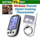 LCD Screen Display Practical Digital Wireless Barbecue BBQ Meat Thermometer QAZ