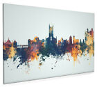 Stoke-on-Trent England Skyline Box Canvas and Poster Print (4091)