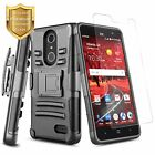 For ZTE Blade Spark / Grand X4 Rugged Belt Clip Holster Case Cover + Kickstand