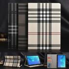 Folio Wallet Grid Leather Stand Smart Case Cover For Huawei MediaPad tablet