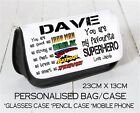 Personalised Wash Bag Glasses Case Fathers Day Dad Daddy Grandad Gift Superhero