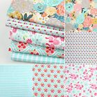 Riley Blake Blue Floral Craft Bunting Quilting Cotton Fabric  FQ Bundle Meter