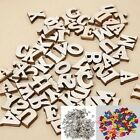 "LETTER or NUMBERS 9/16"" (14.5mm) 200 Natural Wood or 100 Colored Craft Pieces"