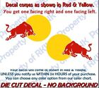 Set of 2 RED BULL Duo Vinyl DECALS Decal for Car Truck Windo